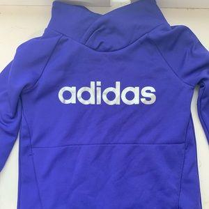Girls Adidas Pullover Sweater Purple